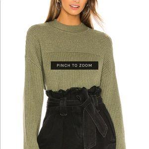 Tularosa green sweater